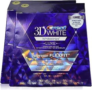 Crest 3D White Luxe Whitestrips Supreme FlexFit-Teeth Whitening Kit 14 treatments, 28 strips (2 Pack)
