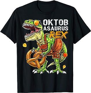 Oktoberfest Dinosaur Lederhosen Bavarian Costume Gift Kids T-Shirt