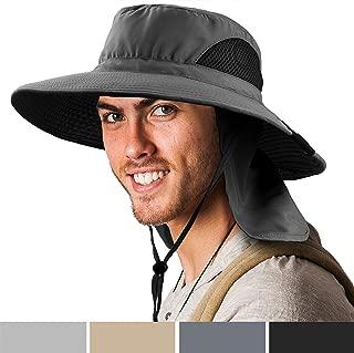Premium Outdoor Sun Boonie Hat with Wide Brim, Neck Flap, Adjustable Chin Strap