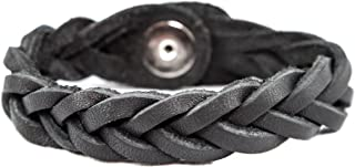 Genuine Leather Essential Oil Diffuser Bracelet (Small, Black)