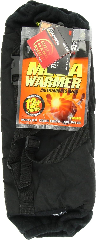 Grabber Warmers Cozy Thinsulate Muff with Inner Warmer Pocket (Black)  Free Grabber Mega Warmer