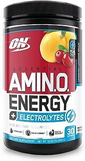 Optimum Nutrition Amino Energy + Electrolytes - Pre Workout, BCAAs, Amino Acids, Keto Friendly, Energy Powder - Cranberry ...