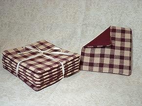 Primitive Vinyl-lined Cotton Drink Coasters