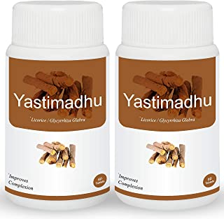 Herb Essential Yashtimadhu Licorice 500Mg Tablet - 60 Count (Pack of 2)