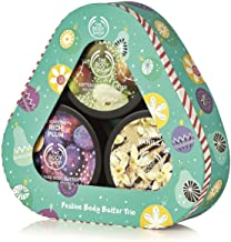 The Body Shop Body Butter Seasonal Trio Gift Set, Includes 3 Exclusive Holiday Scents, Juicy Pear, Warm Vanilla, Rich Plum