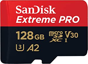 SanDisk Extreme Pro SDXC UHS-I U3 A2 V30 128GB + Adapter, SDSQXCY-128G-GN6MA