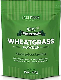 Sponsored Ad - Organic Wheatgrass Powder (15 Ounce): Natural Vegan Whole Food Fiber, Chlorophyll, Antioxidants, Vitamins A...