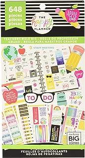 Me & My Big Ideas PPSV-71-3048 Teachers Rule Big Happy Planner Sticker Value (648 Per Pack), Multicolor