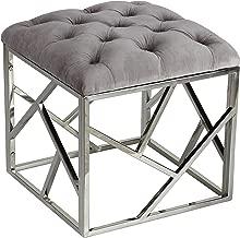Cortesi Home Kora Contemporary Metal Cube, Grey