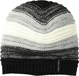 Marled Color Block Slouchy Beanie