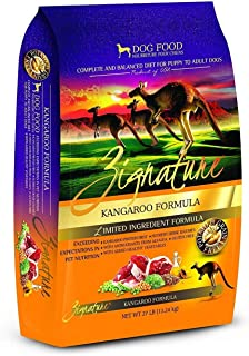 Zignature Kangaroo Dry Dog Food Formula 27 lb. Bag, High Protein Formula. Fast Delivery. by Just Jak's Pet Market