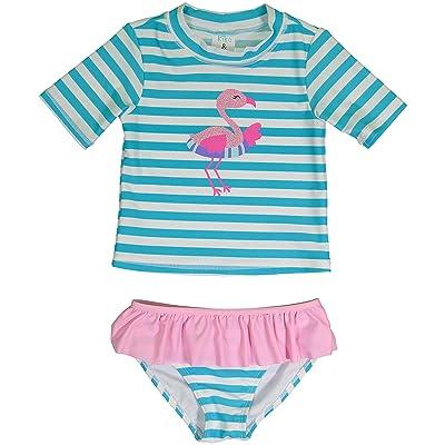 KIKO & MAX 2 Piece Swimsuit Set With Rashguard Swim Shirt