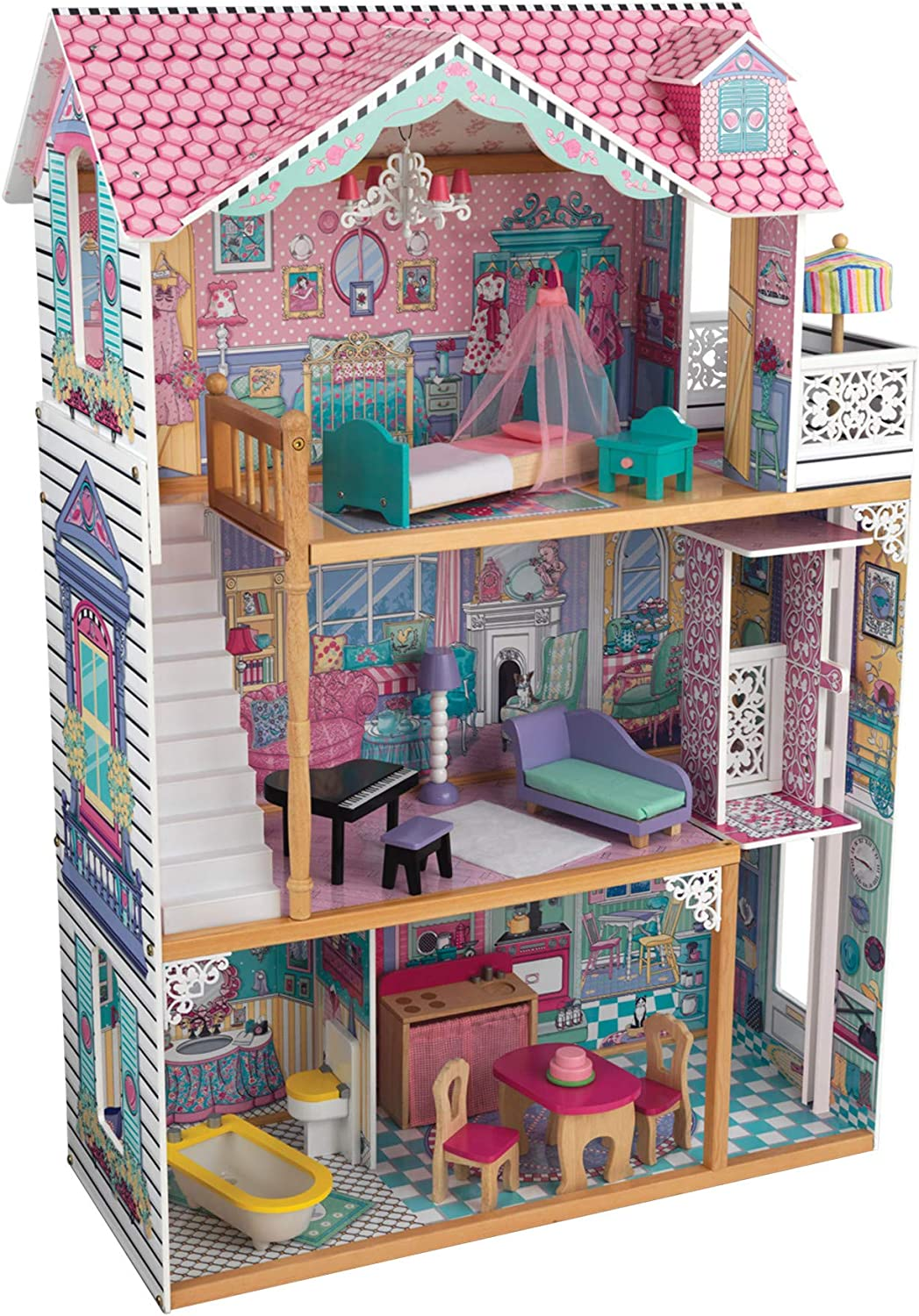 KidKraft Annabelle Wooden Dollhouse with 1 Elevator and Balcony NEW Limited time trial price before selling ☆