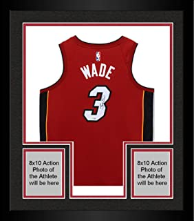Framed Dwyane Wade Miami Heat Autographed Red Nike Swingman Jersey - Fanatics Authentic Certified - Autographed NBA Jerseys