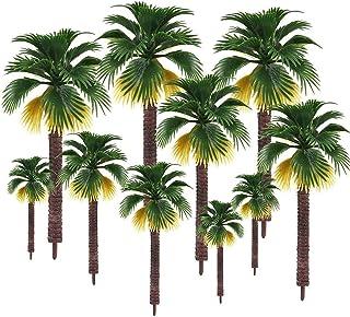 16 st blandade modellträd, plast palmträd växtmodell, byggnad park trädgård miniatyrlandskap, Diorama modeller tåg järnväg...