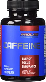 Prolab Caffeine Tablets 100 Count (Pack of 2)