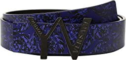 Versace Kids - 'YV' Buckle Belt w/ Barocco Design (Big Kids)