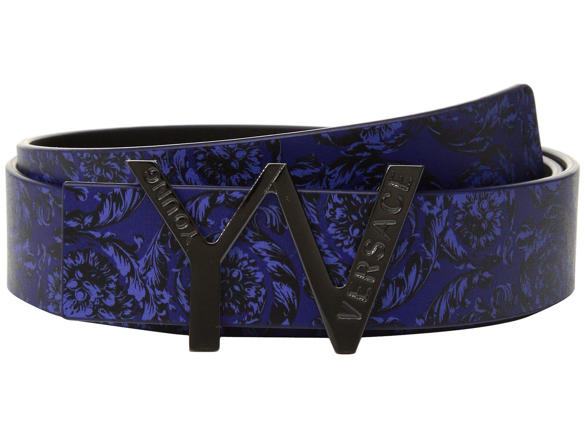 versace kids 39 yv 39 buckle belt w barocco design big kids at. Black Bedroom Furniture Sets. Home Design Ideas