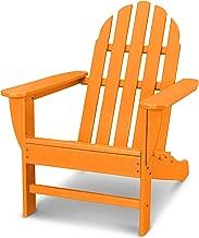 POLYWOOD AD4030TA Classic Outdoor Adirondack Chair, Tangerine