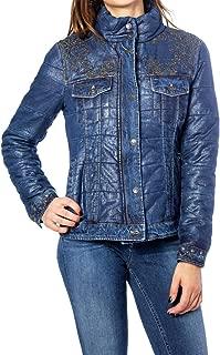 Desigual Luxury Fashion Womens 19WWED35BLUE Blue Down Jacket | Fall Winter 19