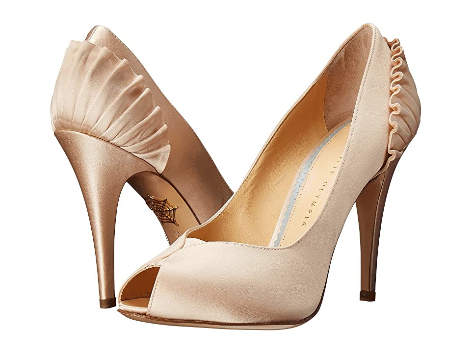 Charlotte Olympia Pavletta (Ivory Silk Twill) High Heels