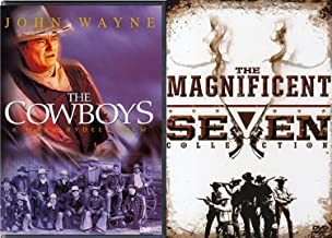 5 Wild West Movie Pack DVD The Cowboys John Wayne + The Magnificent Seven Collection Return / Ride (4 DVD Set) Feature Film DVD Bundle