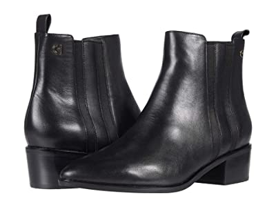 Cole Haan Valorie Bootie (45 mm) (Black Pricess Leather) Women