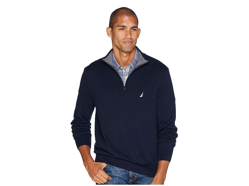 Nautica 12 Gauge 1/4 Zip Sweater (Navy) Men