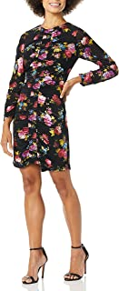 Parker womens Adrienne Long Sleeve Fitted Ruched Front Mini Dress Cocktail Dress