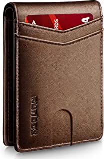 Sponsored Ad - RUNBOX Slim Wallets for Men with RFID Blocking & Minimalist Mens Front Pocket Wallet Leather…