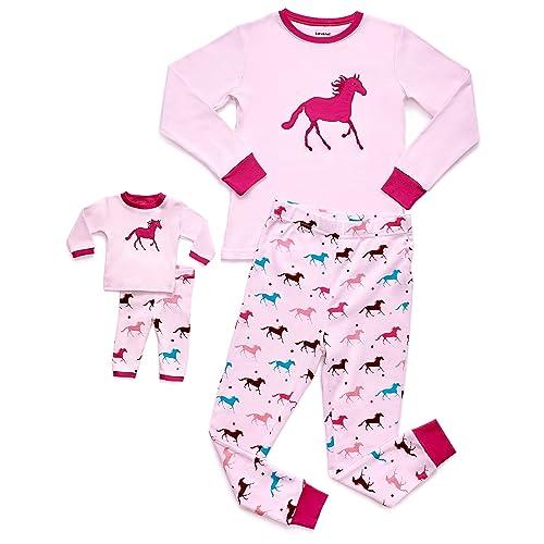 21ed24c5f1 Leveret Kids   Toddler Pajamas Matching Doll   Girls Pajamas 100% Cotton 2  Piece Pjs