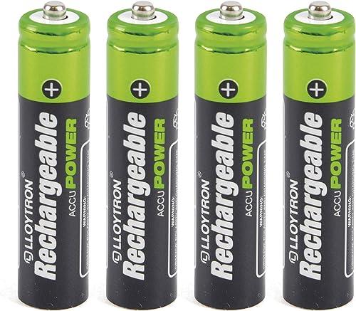 Lloytron - Pilas AAA recargables de Ni-Mh (550 mAh, 4 unidades): Amazon.es: Electrónica