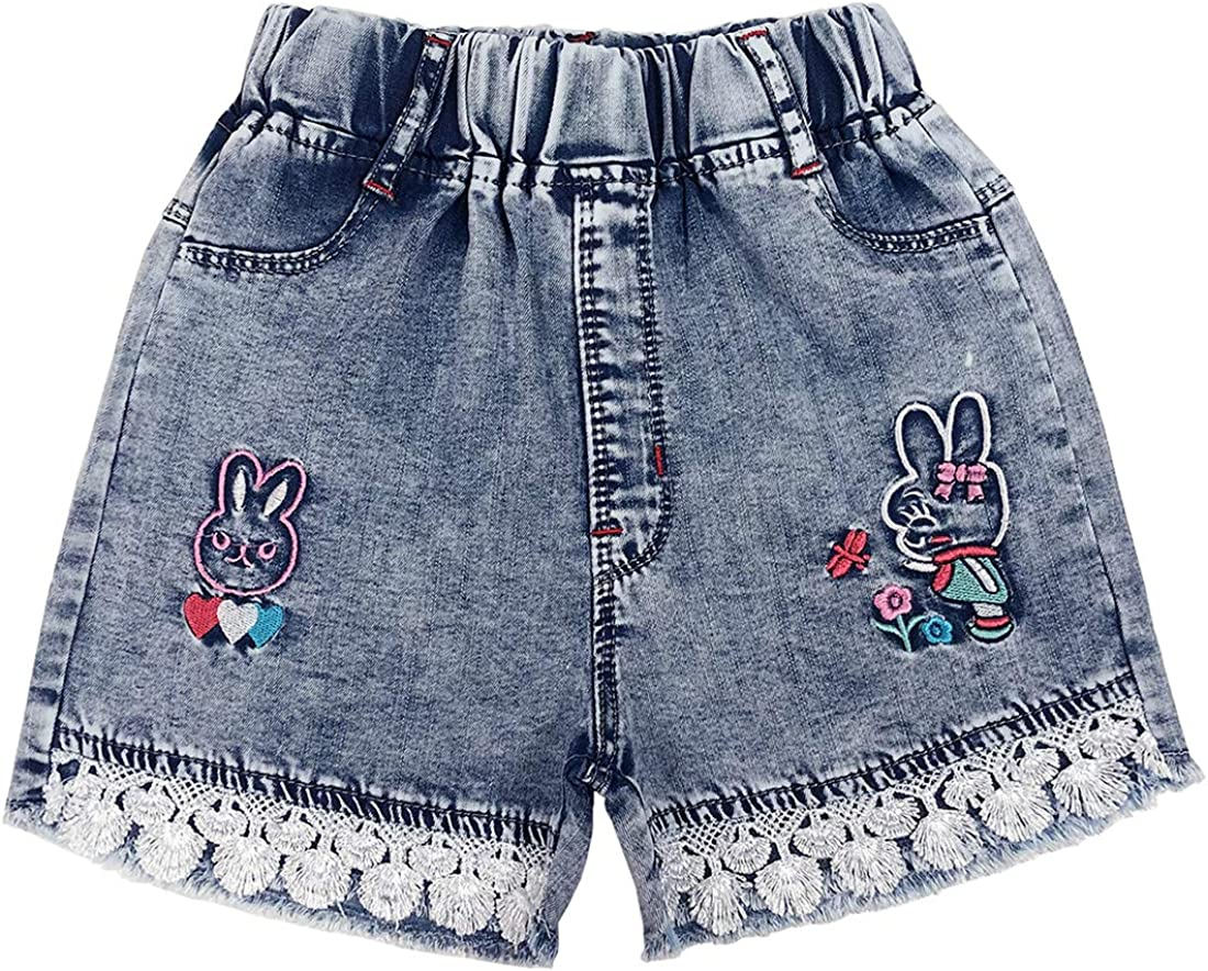 Peacolate 4-11Years LittleBig Girls Popular products Shorts Summer Sales of SALE items from new works Elastic Denim