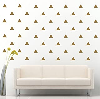 JCM CUSTOM Removable Easy Peel and Stick, Wall Vinyl Decal Sticker, DIY Decor/Safe on Painted, Triangle, Gold, Set of 96 +