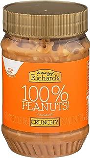 Crazy Richard's All Natural Crunchy Peanut Butter 16 oz Jar 100% Peanuts No added Sugar, Salt, or Palm Oil (Crunchy Peanut Butter, 1 Jar)