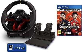 Volante y Pedales PS4 Inalámbrico [Nuevo Modelo] Licencia Oficial Sony Playstation 4 + Formula 1 2020 - F1 2020