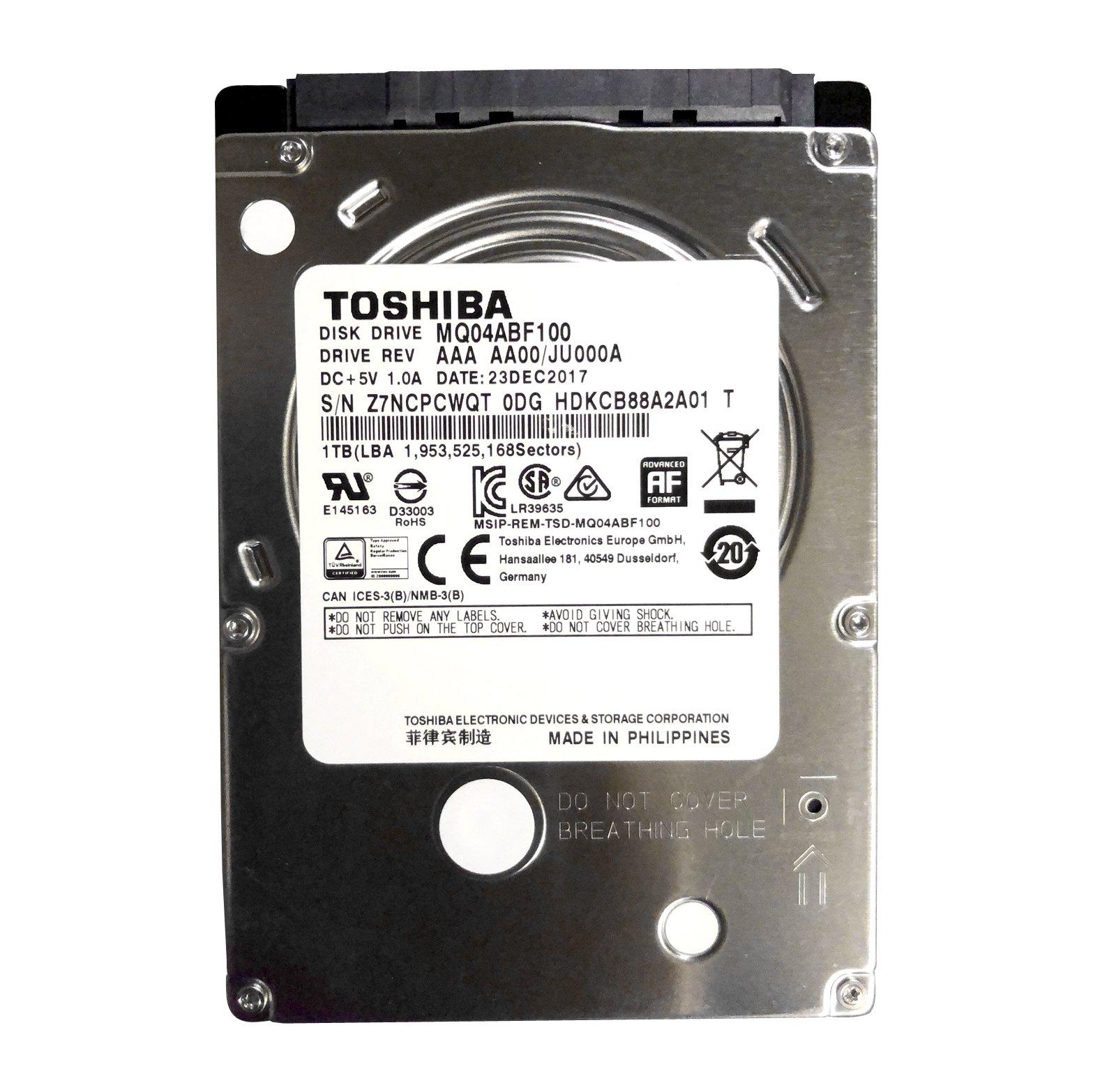 "Toshiba MQ04ABF100, 2.5"", 1000 Go, 5400 TR/Min"