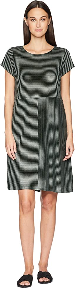 Organic Linen Jersey Stripe Dress