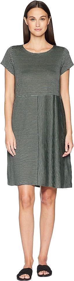 Organic Linen Jersey Stripe Dress