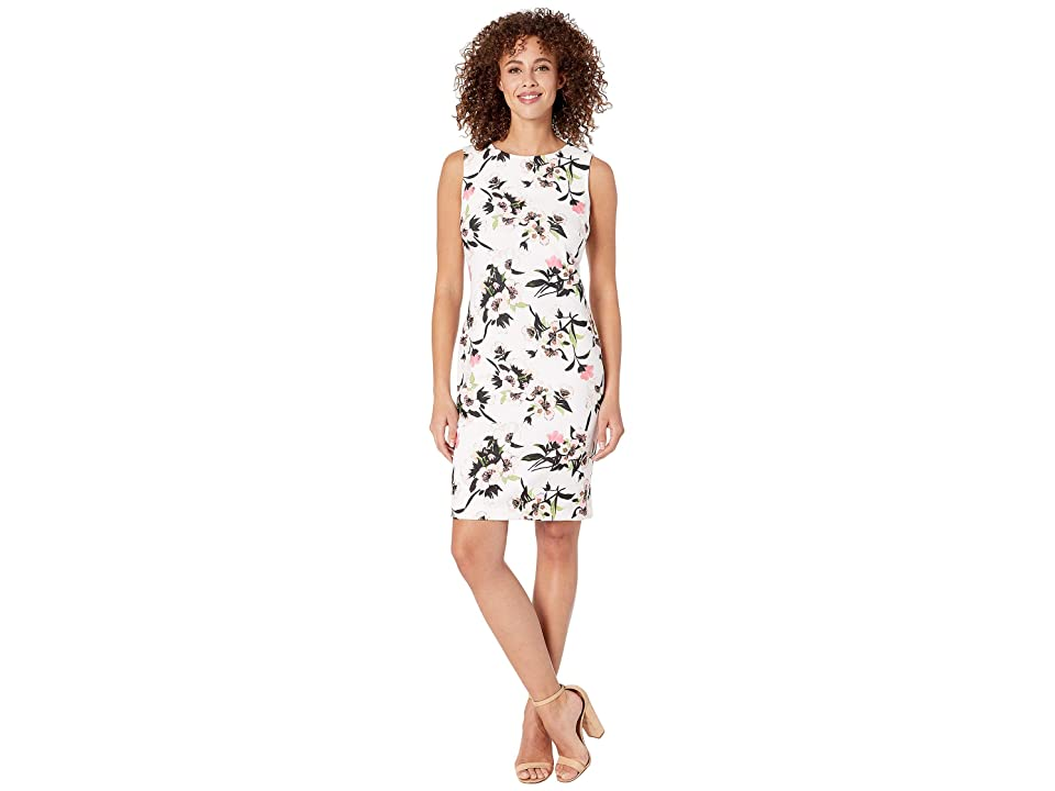 Tommy Hilfiger Rozanne Floral Dress (Ivory/Sherbert) Women