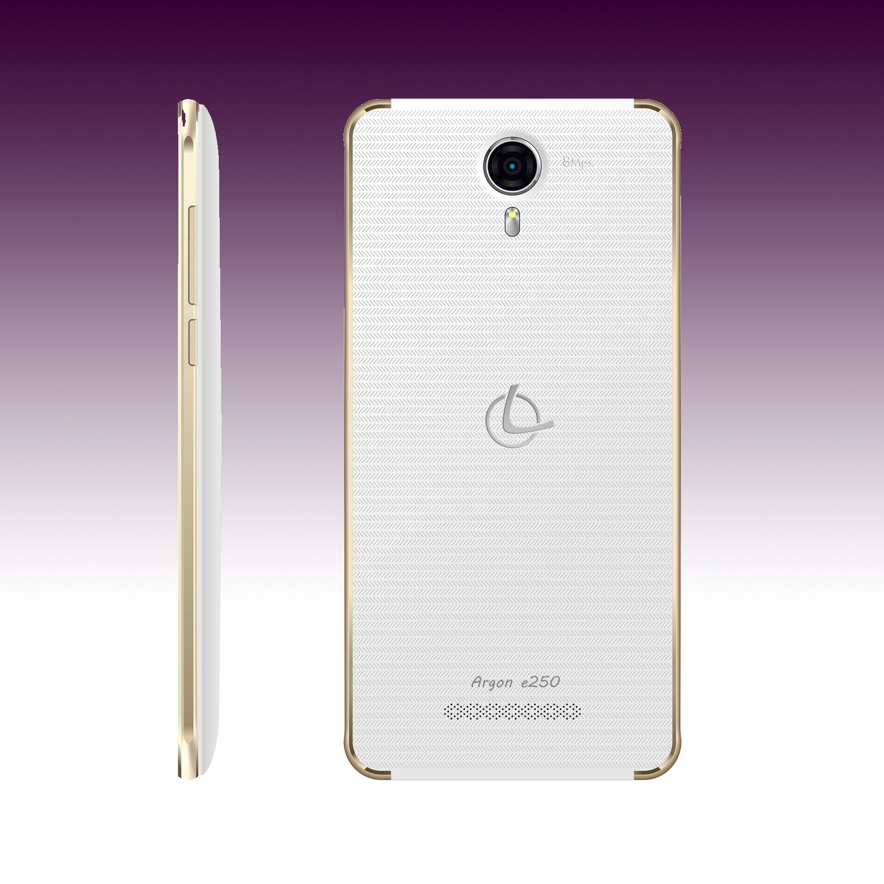 Smartphone libre dualSIM Leotec Argon E250 Gold White ...