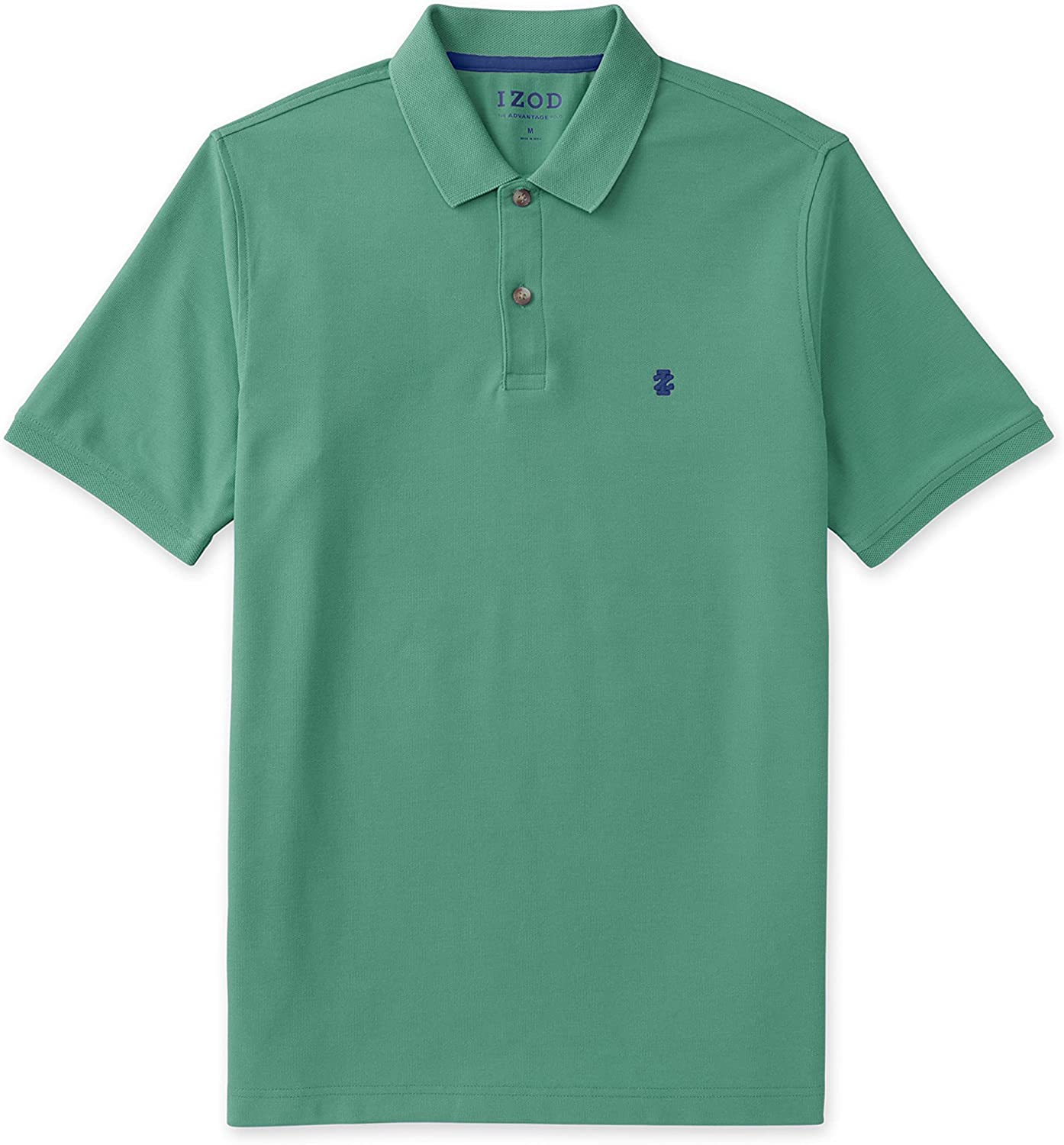 IZOD Men's Big and Tall Advantage Performance Stretch Short Sleeve Solid Polo Shirt