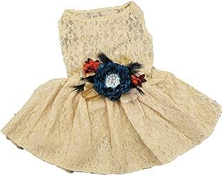 House of FurBaby Wedding Flower Dog Dress   The Peacock   Dog Wedding Dress   Fall Wedding   Flower Girl Dog Dress