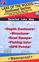 Lake of The Woods Southwest Section Fishing Map