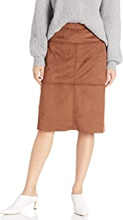 Women's Faux Suede Straight Fit Skirt