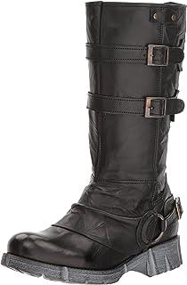 Bernie Mev Women's FM Straps Fashion Boot, BLACK, 36-41 M Medium EU (40 US)