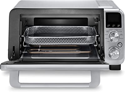 De'Longhi Livenza 9-in-1 Digital Air Fry Convection Toaster Oven, Grills, Broils, Bakes, Roasts, Keep Warm, Reheats, 1800-Watts + Cooking Accessories, Stainless Steel, 14L (.5 cu ft), EO141164M