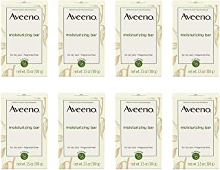 Aveeno Gentle Moisturizing Bar Facial Cleanser with Nourishing Oat for Dry Skin, Fragrance-free, Dye-Free, & Soap-Free, 3....