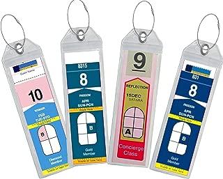 Cruise Luggage Tag Holder Zip Seal & Steel - Royal Caribbean & Celebrity Cruise (4 Luggage Tag Holders)