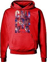 TooLoud California Republic Design - Space Nebula Print Dark Hoodie Sweatshirt